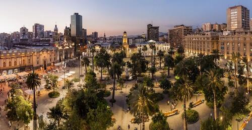 Santiago city plaza