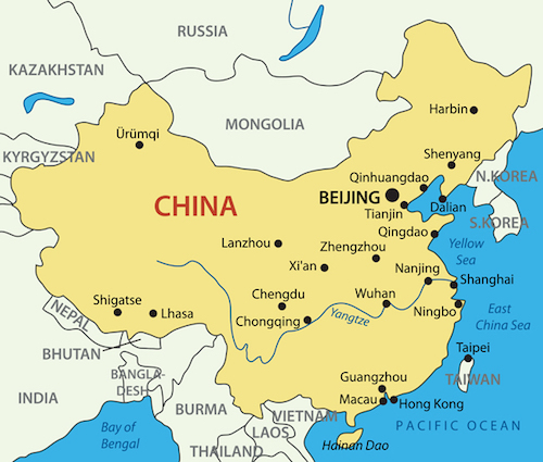 Great Wall Of China Map View.China Facts For Kids China For Kids Geography Attractions
