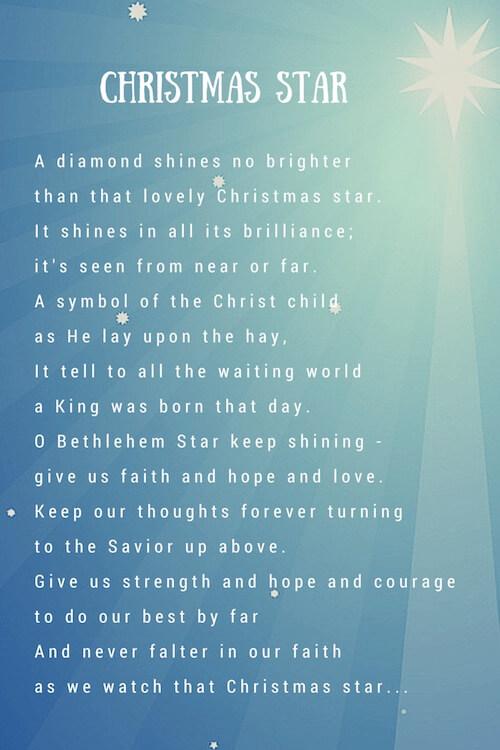 Christmas Star Poem