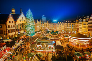 Germany Frankfurt Christmas market at Roemer