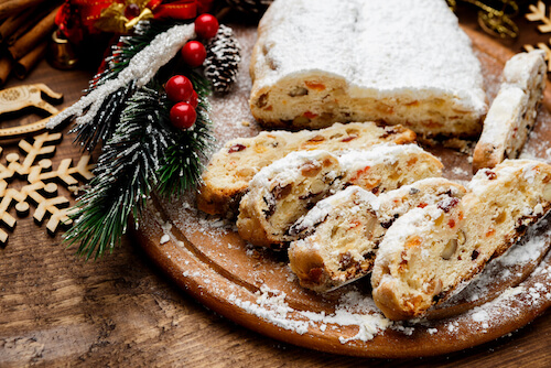 typical german christmas stollen