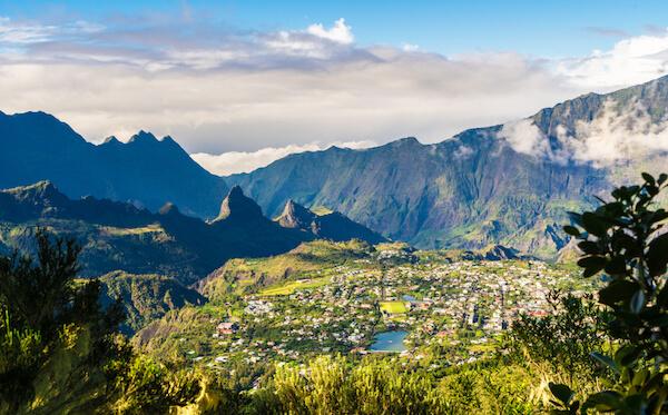 Mountain village of Cilaos on Reunion island