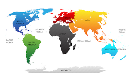 Continent Facts The Continents Geography For Kids Fun Facts - All continents and oceans