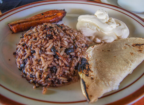 Gallo Pinto - traditional Costa Rican dish