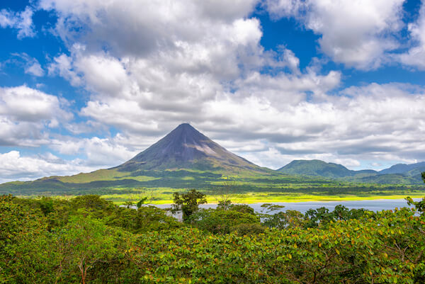 Lake Arenal and Volcano Arenal in Costa Rica