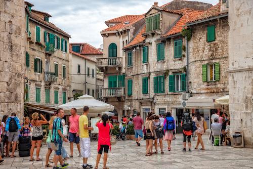 Tourists in Split in Croatia - image by Nightman1965/shutterstock.com