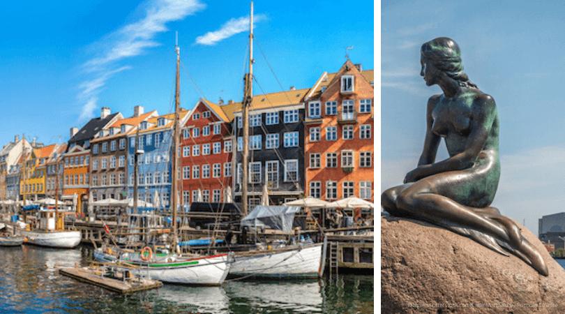 Copenhagen's Nyhavn and the Little Mermaid