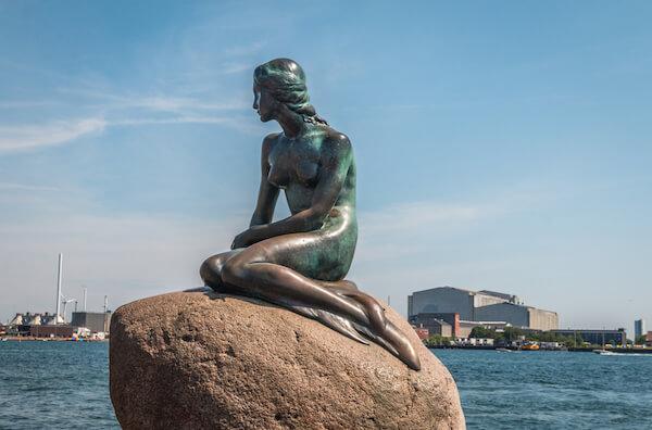 Copenhagen's Little Mermaid statue - image by Pocholo Calapre/shutterstock.com