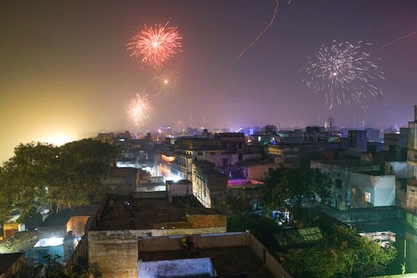 Diwali Fireworks in Varanasi/India -image by Shutterstock