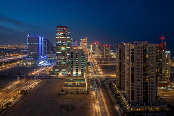 Doha by night - image by Hasan Zaidi