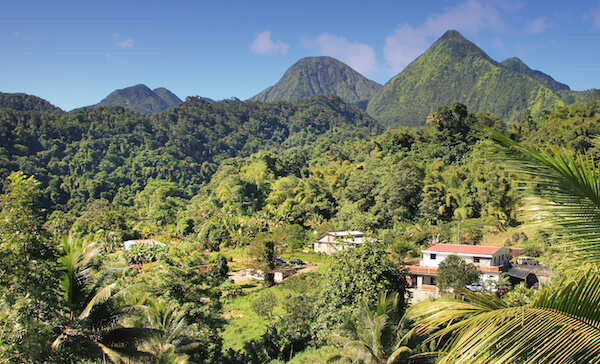 Dominican Republic landscape with mountains
