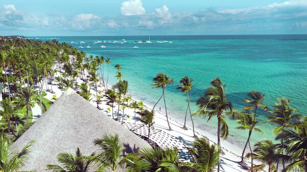 Punta Cana beach in the Dominican Republic