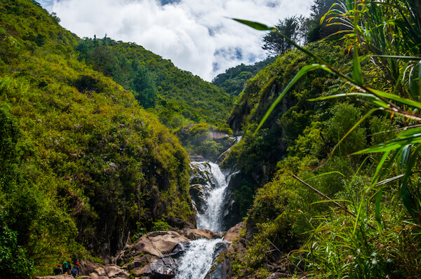 Agoyan waterfalls in Ecuador is the highest waterfalls of the South American country.
