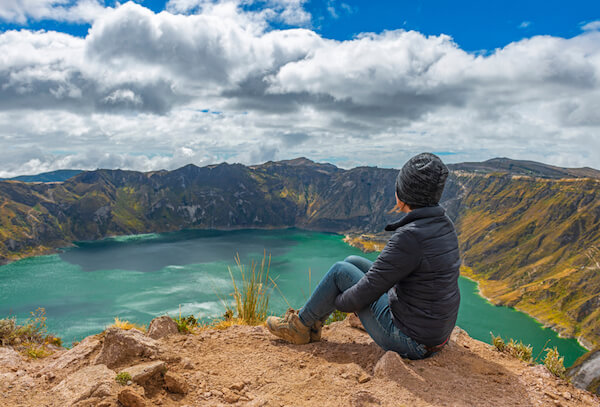 Quilotoa Crater Lake in Ecuador