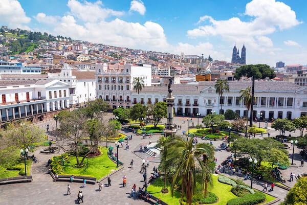 Quito's Plaza Grande in Ecuador - image by Jess Kraft/shutterstock.com