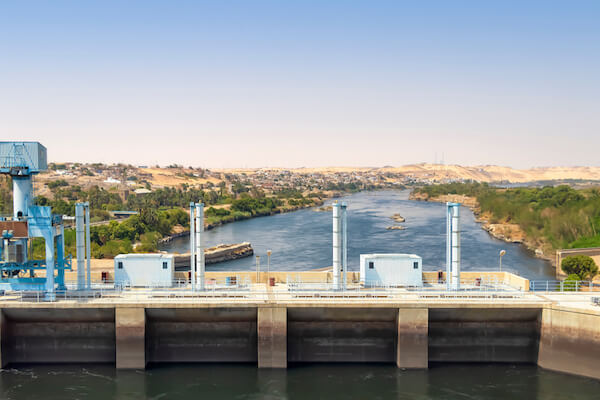 Aswan dam in Egypt - hydroelectric power