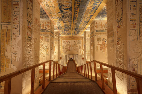 Inside the tomb of Ramses VI in Egypt's Valley of the Kings - image by Jakub Kyncl/shutterstock.com