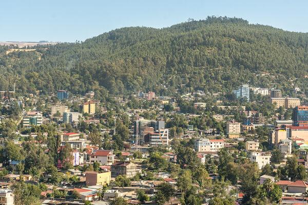 Addis Ababa aerial