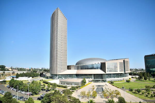 African Union commission building in Addis Ababa - image by Hailu Wudineh TSEGAYE/shutterstock.com