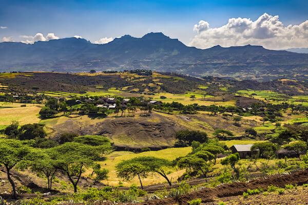 Ethiopia countryside near Lalibela
