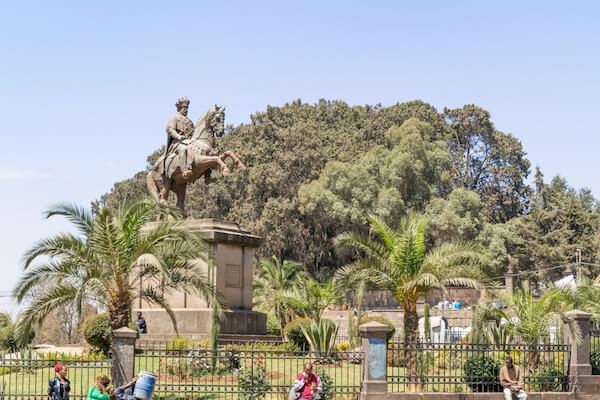 Statue of Menelik II in Addis Ababa/Ethiopia - image by Marek Poplawski/shutterstock.com