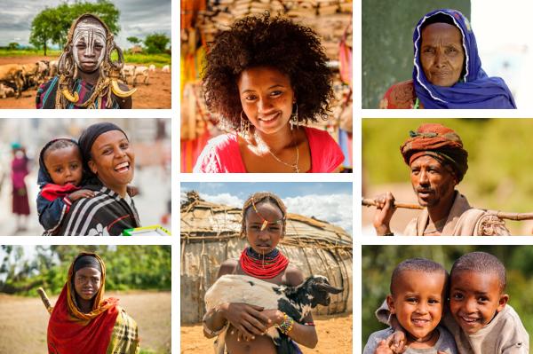 Ethiopian people - all by shutterstock.com (credits to Nick Fox, Anton Ivanov, Sunshine Seeds and Sarine Arslanian)