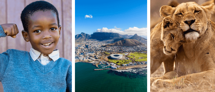 Facts about South Africa banner by Kids World Travel Guide