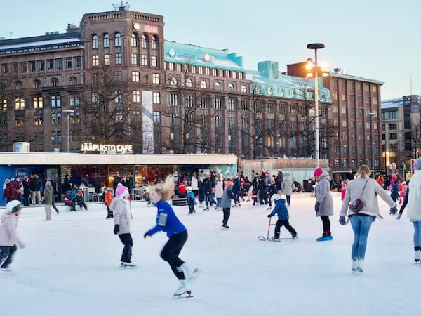 Iceskating in Helsinki - image by Watermelontart/shutterstock.com
