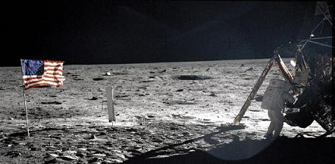 Neil Armstrong, the first man on the moon, picture by NASA