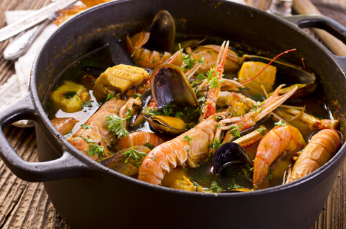 Typical French food: Bouillabaisse