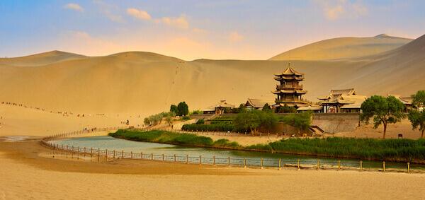 Gansu in the Gobi Desert - image by RickWang/shutterstock.com