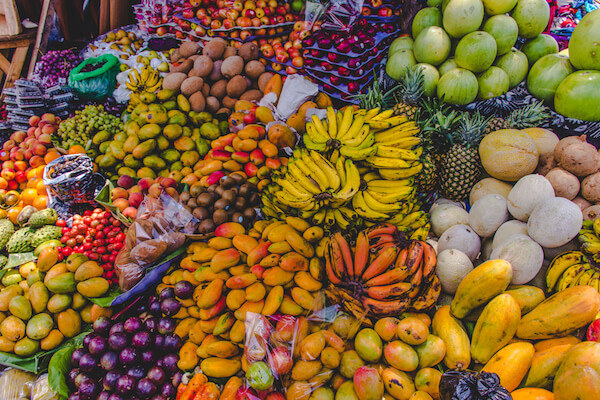 Fruits and Vegetables at Antigua Market in Guatemala