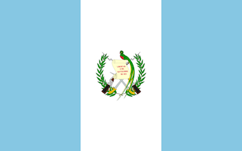 Guatemala Flag with Quetzal