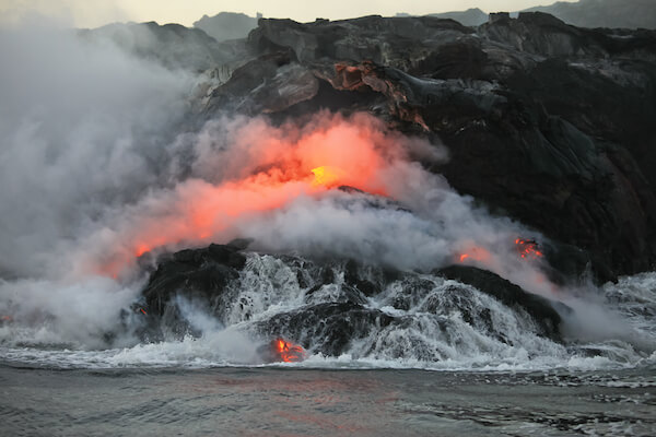 Volcanic eruption on Hawaii