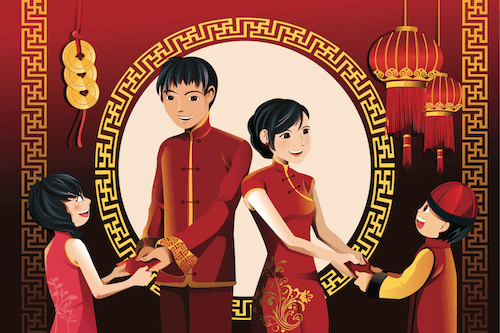 Chinese New Year Traditions: Red envelopes or hongboa are presented to children - image by Artisticco/shutterstock.com