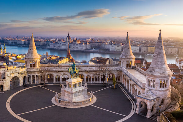 Fisherman's Bastion in Budapest Hungary