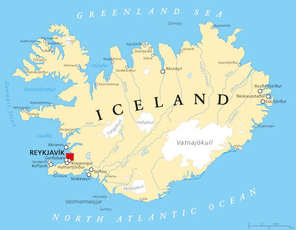 This is a picture of Iceland Map Printable for westfjords