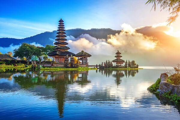 Pura Ulan Danu Beratan on Bali island