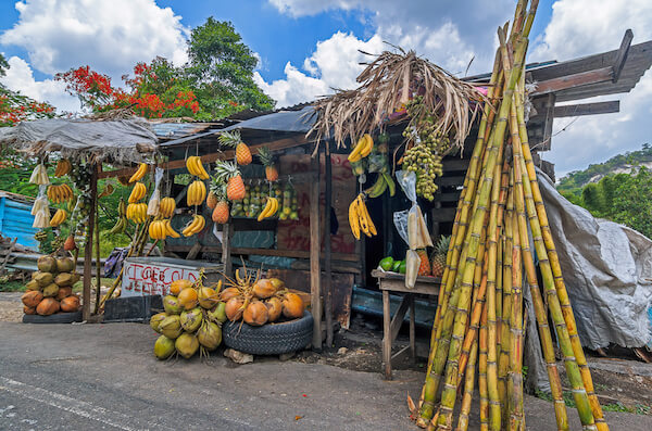 Fruit seller's stand in Jamaica