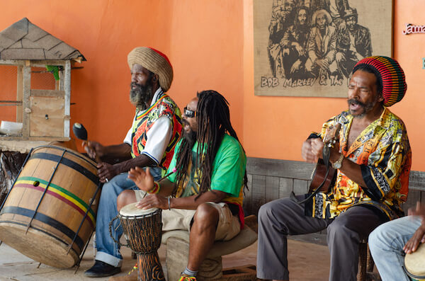 Reggae musicians in Jamaica - image by LostMountainStudio/shutterstock.com