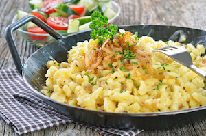 German spaetzle dish - traditional food in Germany