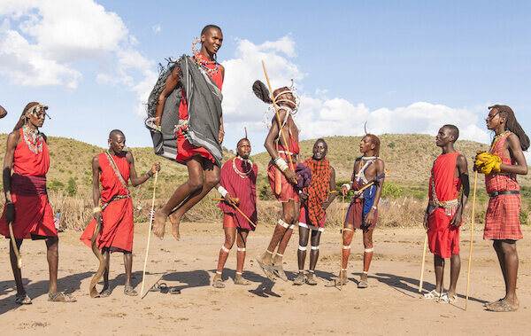 Maasai are famous for their high jumping skills - image by iSelena