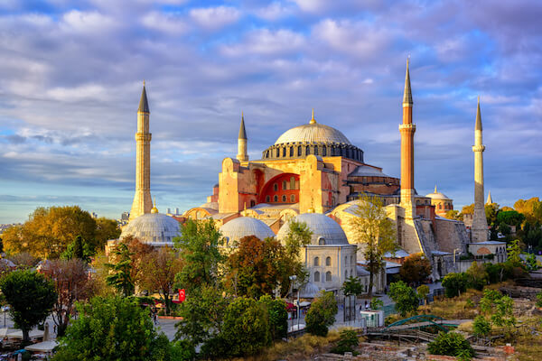 Hagia Sofia in Istanbul Old Town