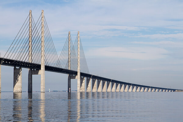 Öresund Bridge between Copenhagen and Malmö