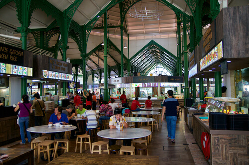 Singapore Food Market: Lau Pa Sat Hawker Centre - image by Christian Heinz / Shutterstock.com