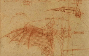 Famous Italians: Leonardo da Vinci's Flying Machine -image by DrawingsofLeonardo.org