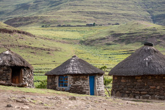 Rondavels in Lesotho - image by Lois GoBe/shutterstock.com