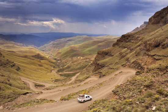 Lesotho - driving up Sani Pass