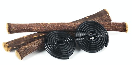 Liquorice spirals and liquorice roots