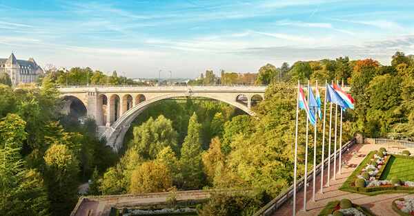 Luxembourg's Adolphe Bridge over the Petrusse Valley